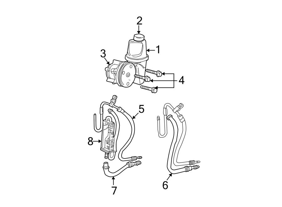 Dodge Dakota Power Steering Pump. POWER STEERING WITH