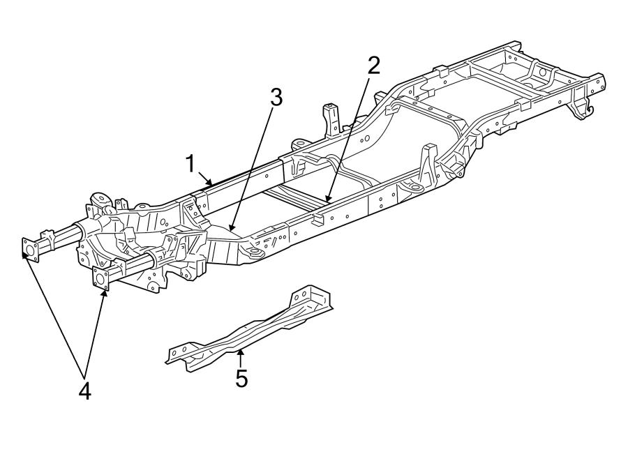 Dodge Dakota Frame Rail. 2WD, club cab. FCA, COMPONENTS