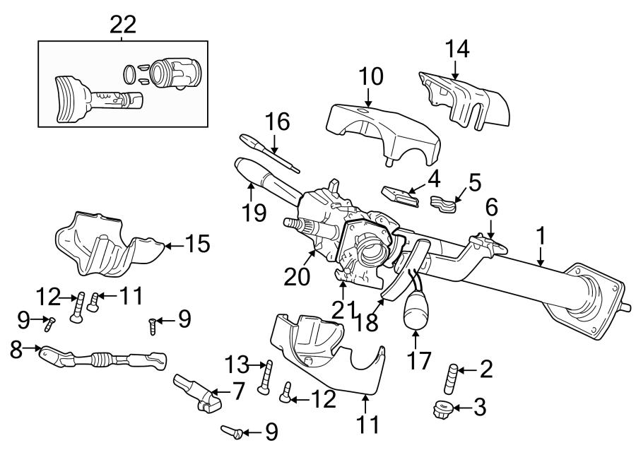 Dodge Dakota Steering Column Cover. Wtilt, Upper, Lock