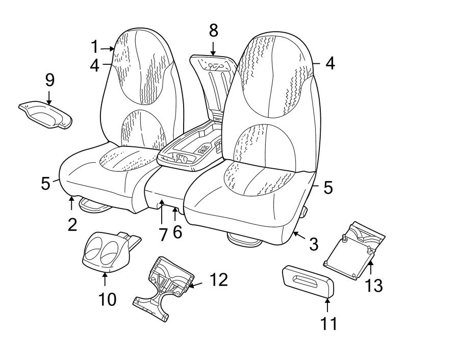 Dodge Dakota Seat Cover. SPLIT BENCH SEAT, Club Cab, gray