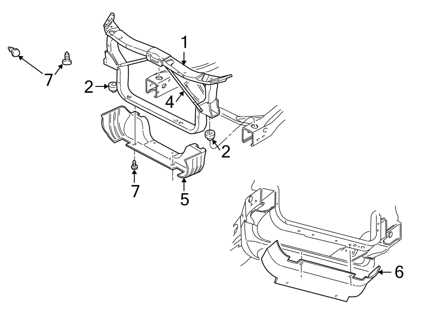 Dodge Dakota Radiator Support Air Deflector Clip. MEGA