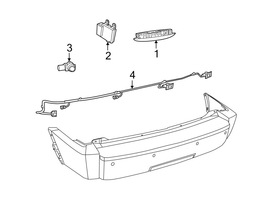 Dodge NITRO Parking Aid Sensor. Reverse, Rear, BUMPER