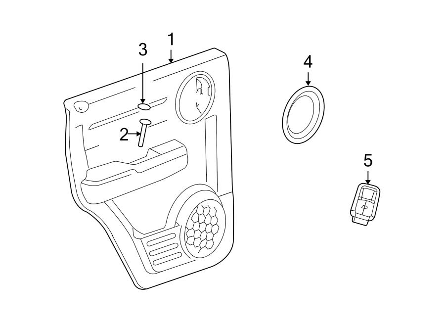 Dodge NITRO Door Window Switch. Left, INTERIOR, Pwr