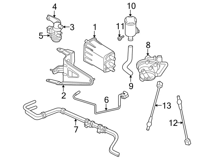 Dodge Durango Evaporative Emissions System Lines. 3.9, 4.7