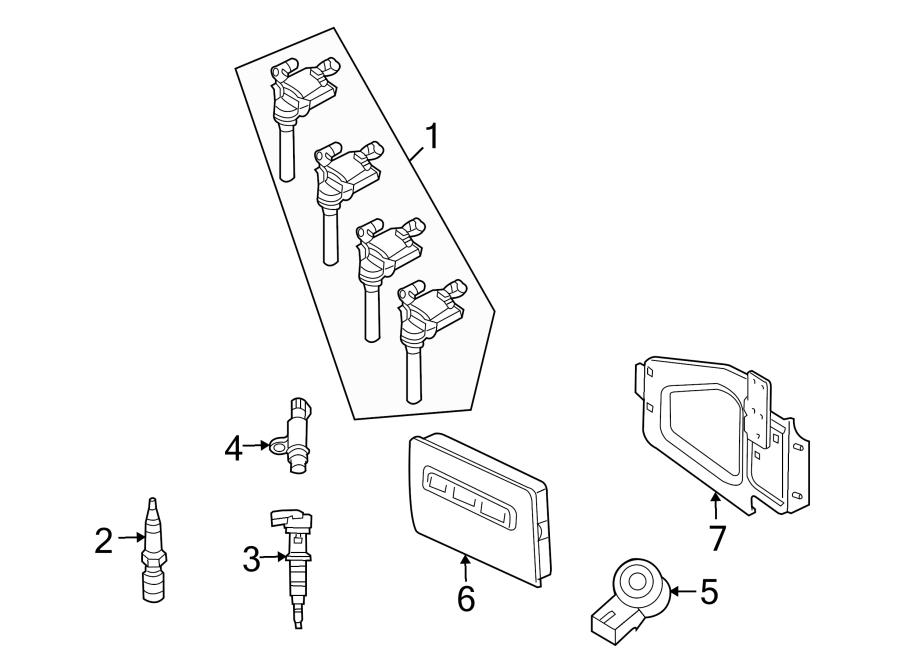 Dodge Ram 2500 Direct Ignition Coil. LITER, CAB