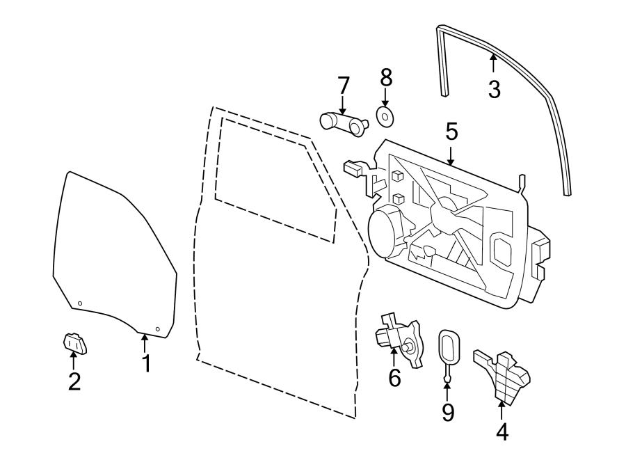 Dodge Ram 2500 Weatherstrip. (Front, Upper, Lower). 4 door