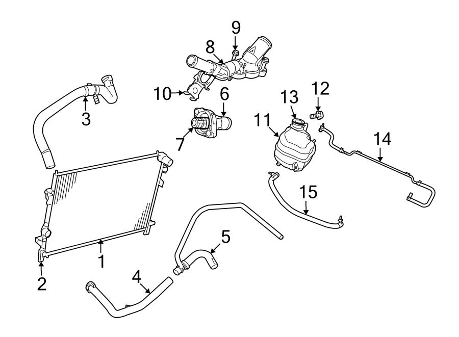 Dodge Journey Radiator Coolant Hose (Lower). 3.5 LITER