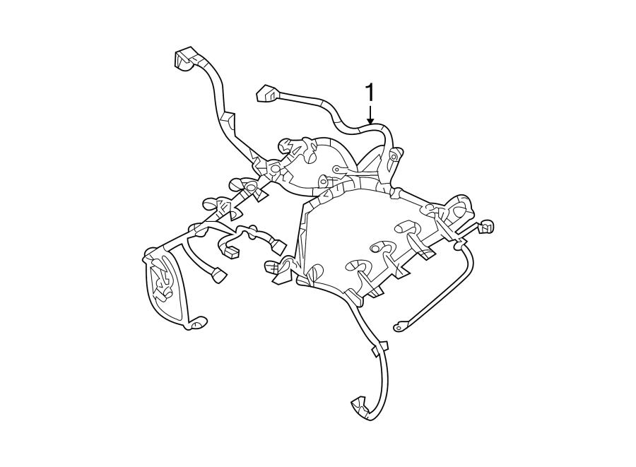 Dodge Challenger Engine Wiring Harness. 5.7 liter, auto