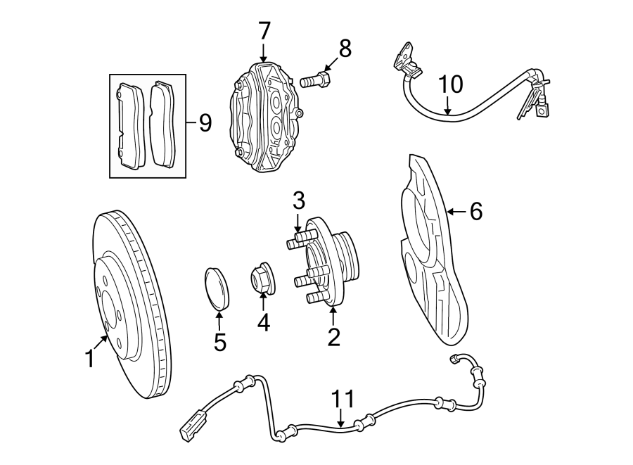 Dodge Challenger Abs wheel speed sensor (front
