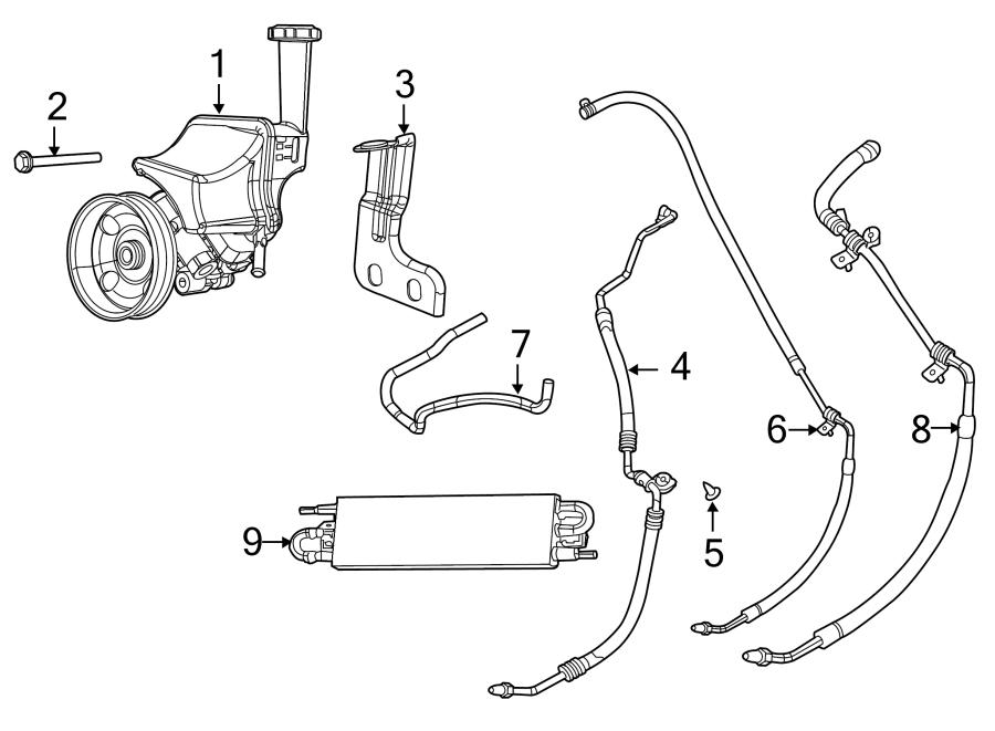 Dodge Challenger Power steering pressure hose. 2011-14