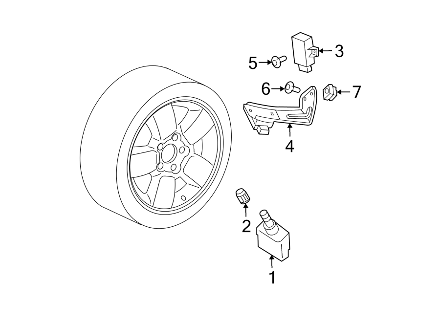 Jeep Grand Cherokee Tire Pressure Monitoring System Sensor