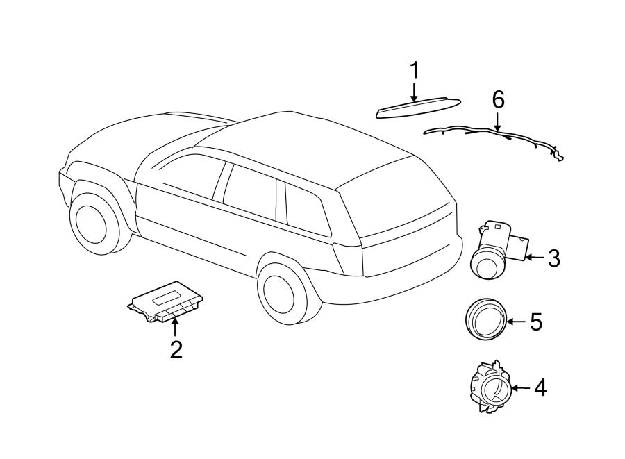 Jeep Grand Cherokee Parking Aid Sensor Bracket. REVERSE