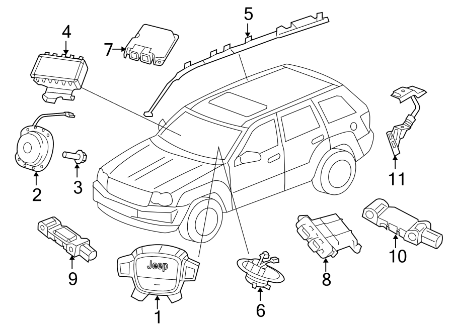 Jeep Grand Cherokee Air Bag Impact Sensor (Front