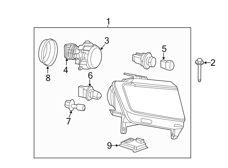 Jeep Compass Headlight Assembly. Compass; Left. Grand