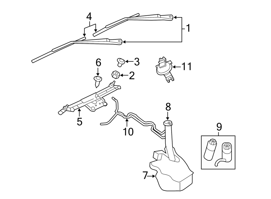 Jeep Grand Cherokee Windshield Wiper Arm (Front). Arm