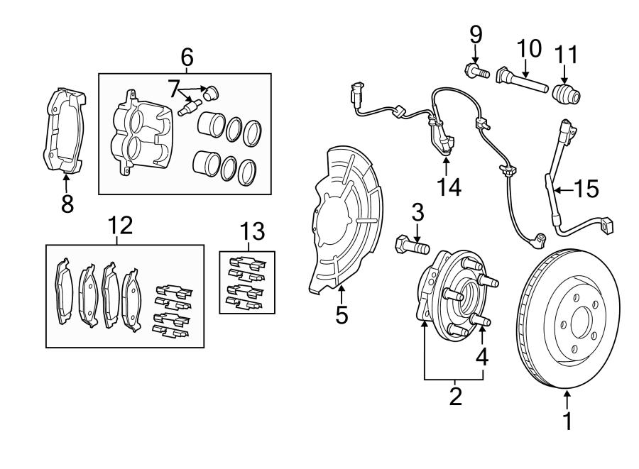 Jeep Grand Cherokee Disc Brake Pad Set. Pads, Code
