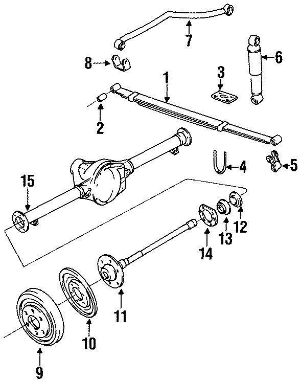 Jeep Grand Wagoneer Backing plate. W/O DANA MODEL 60 AXLE