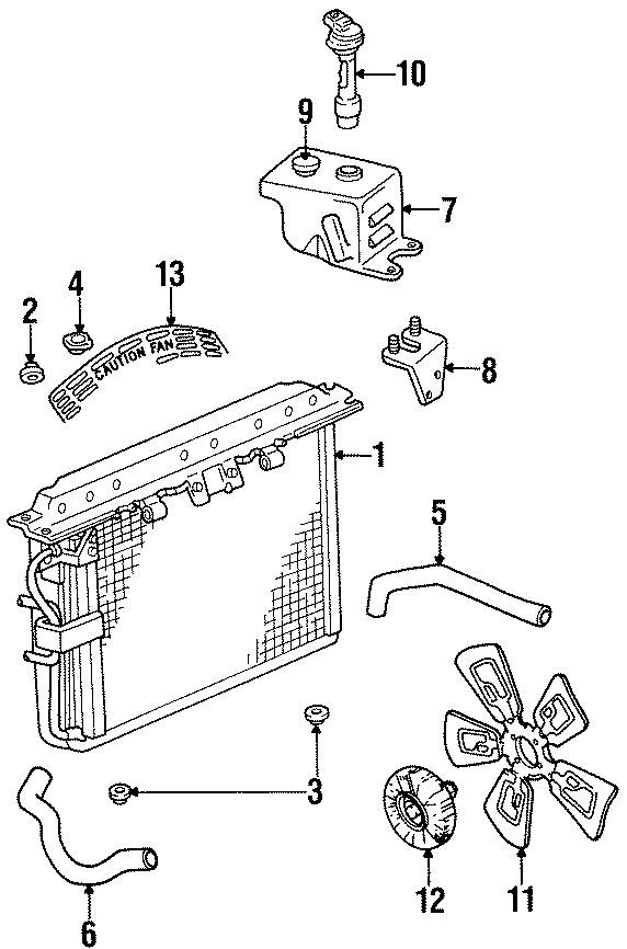 Jeep Grand Wagoneer Recovery tank bracket. 4.0 LITER. 5.2