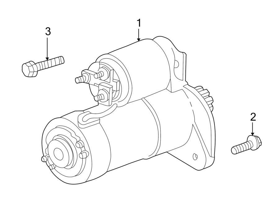 Jeep Grand Cherokee Engine. Starter. 4.7 liter. Grand