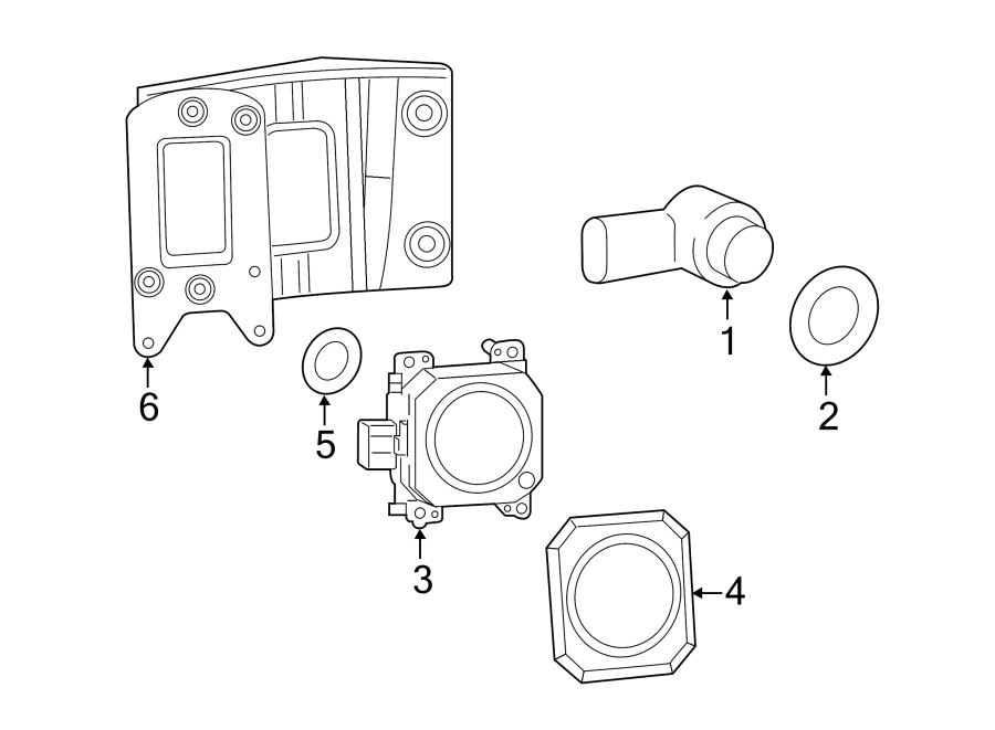 Jeep Cherokee Parking Aid System Wiring Harness
