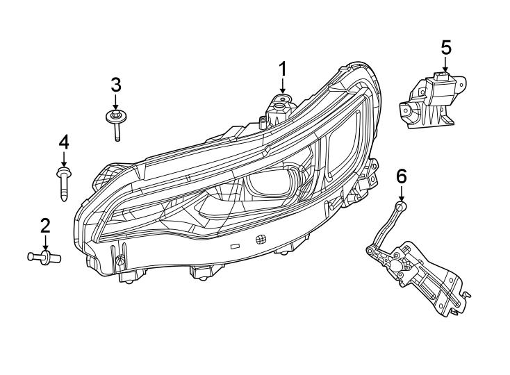 Jeep Cherokee Headlight Mounting Screw. 2019-20. Headlamp
