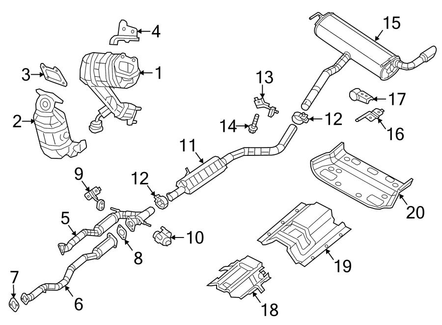 Jeep Cherokee Catalytic Converter. 200; 3.6L; Rear. 3.2