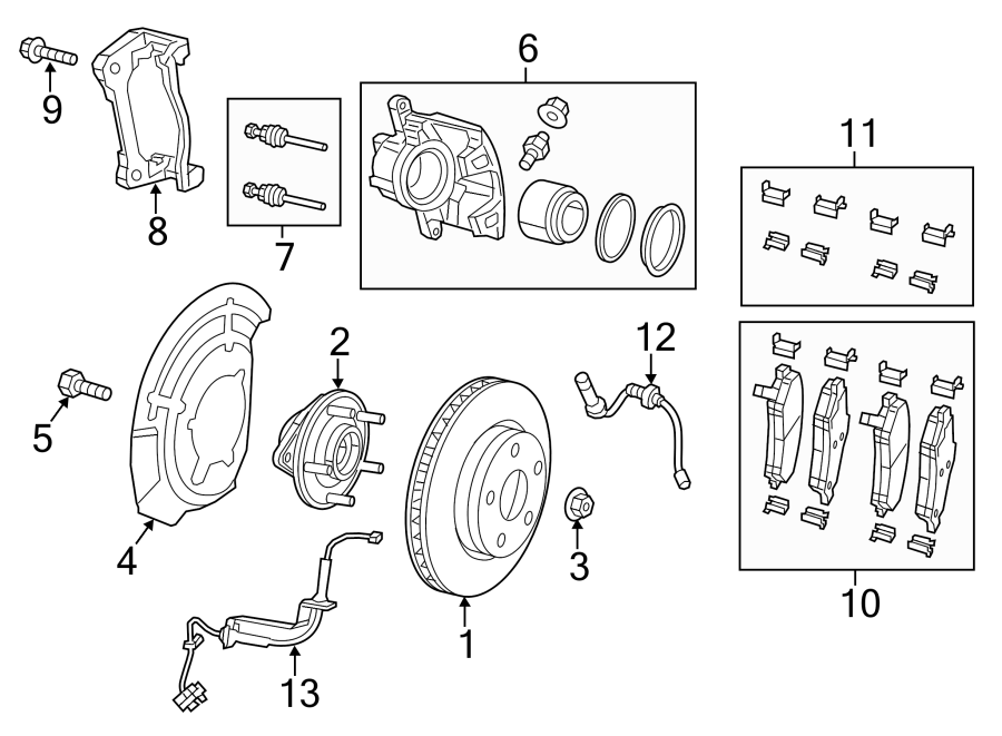 Jeep Cherokee Disc Brake Pad Set. Pads, Code, BRG