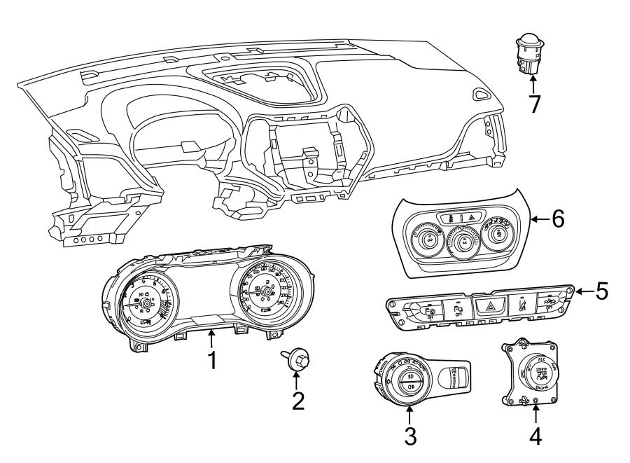 Jeep Cherokee Hvac temperature control panel. 2014-18, w