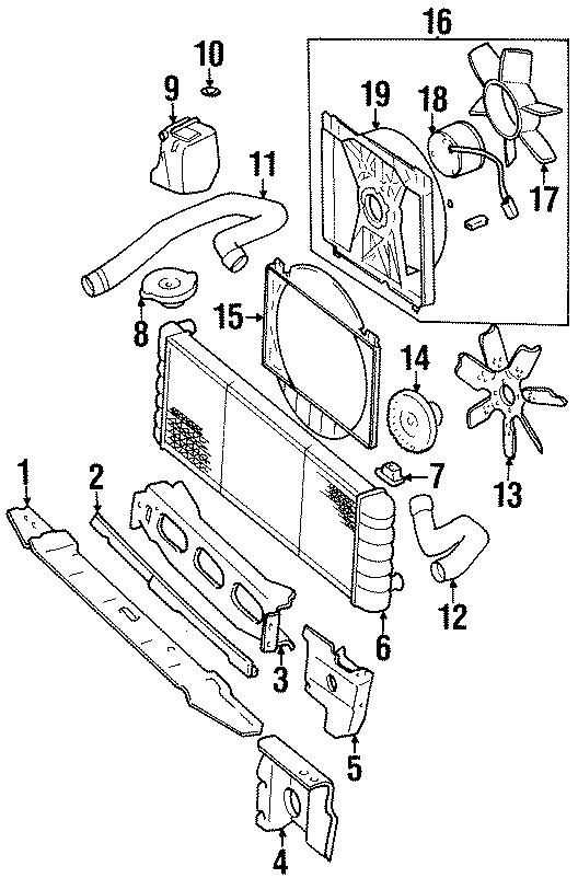 Jeep Cherokee Radiator Coolant Hose (Upper, Lower). 4.0