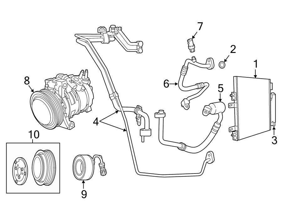 Jeep Compass A/c refrigerant suction hose. Suction. Line