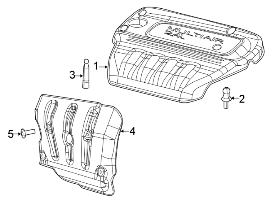 Jeep Compass Engine Cover. 2.4 LITER. Lower, Front