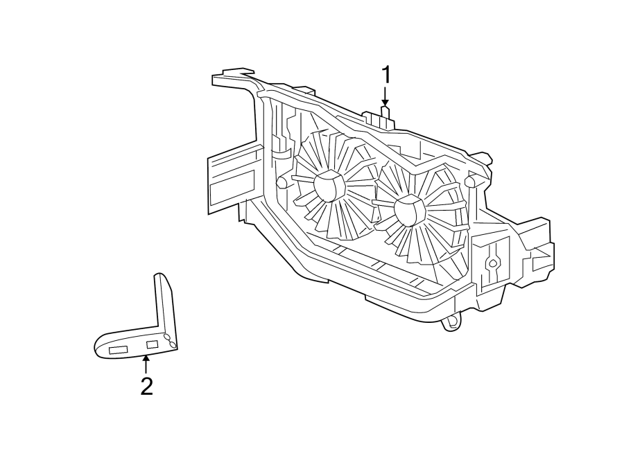 Jeep Patriot Engine Cooling Fan Assembly. Trans, Auto