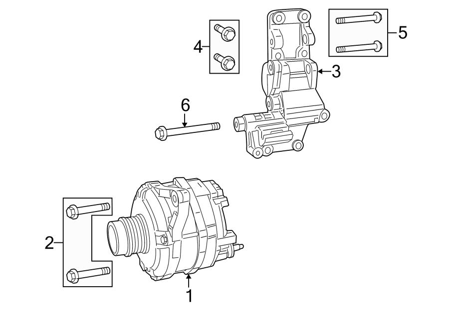 Jeep Patriot Bolt. Bracket. Mount. Alternator. #2. 2.4