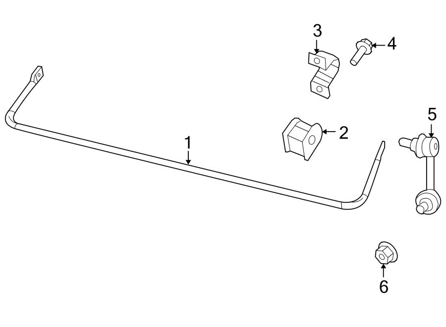 Jeep Patriot Suspension Stabilizer Bar (Rear). 4WD