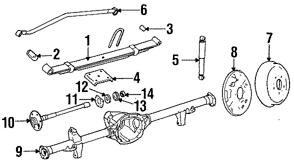 Jeep Wrangler Shock Absorber. CJ, YJ Series; Heavy Duty