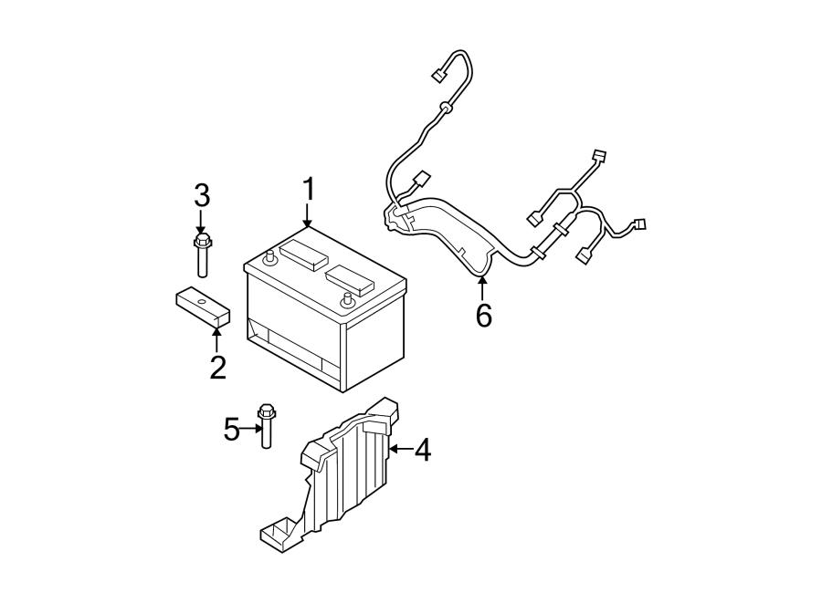 Jeep Wrangler Battery Tray. W/o rear wiper. Telematics