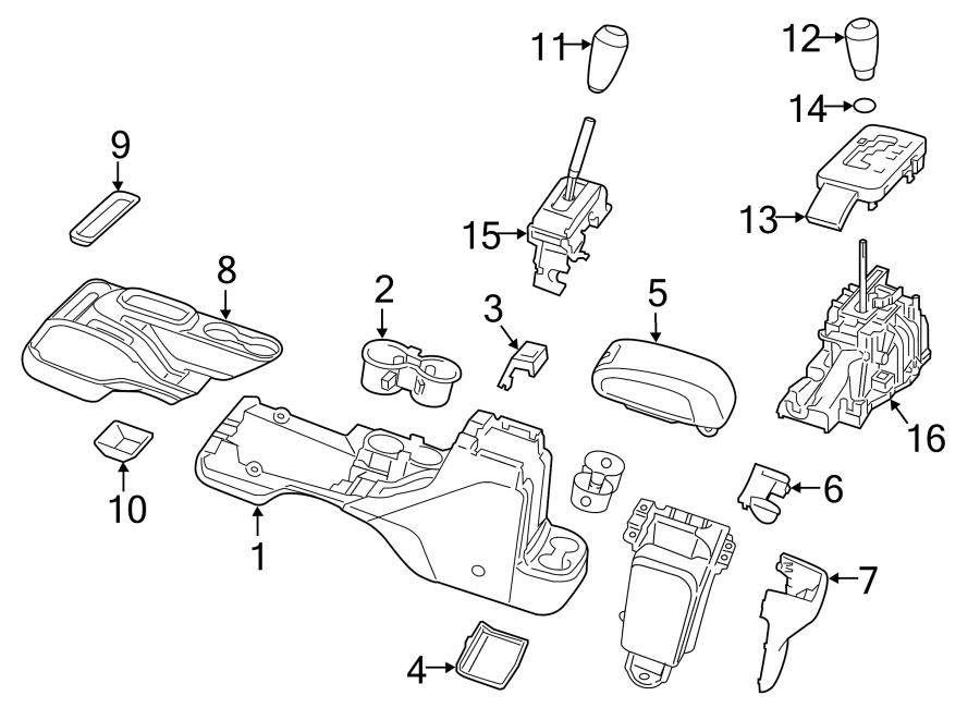 Jeep Wrangler Console Trim Panel. 2011-18, all