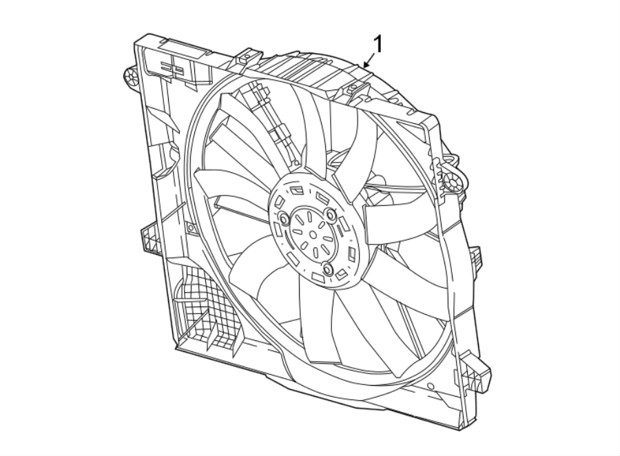Jeep Wrangler Engine Cooling Fan Assembly. RADIATOR, Trans