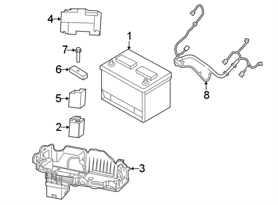 Chrysler Crossfire Vehicle Battery. Amp, Liter, STOP