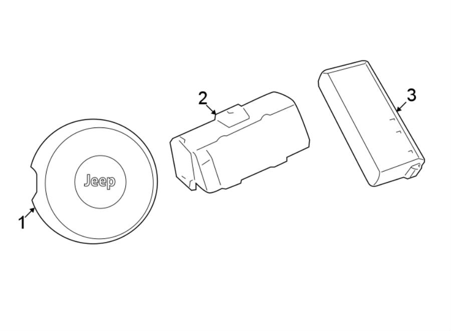 Jeep Wrangler Seat Air Bag. Inflator, Module, Replace