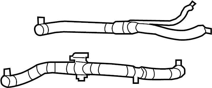 Chrysler Sebring Radiator Coolant Hose (Upper, Lower