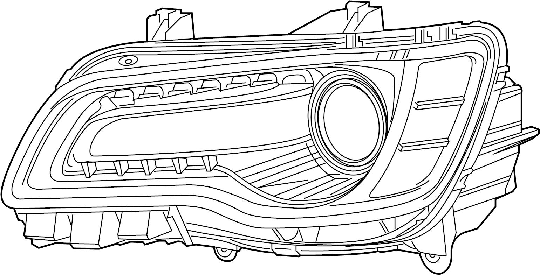 Chrysler 300 Headlight. 300; Left; w/Adaptive Headlamps