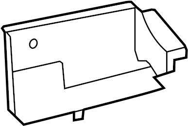 Dodge Grand Caravan Radiator Support Splash Shield. 2011