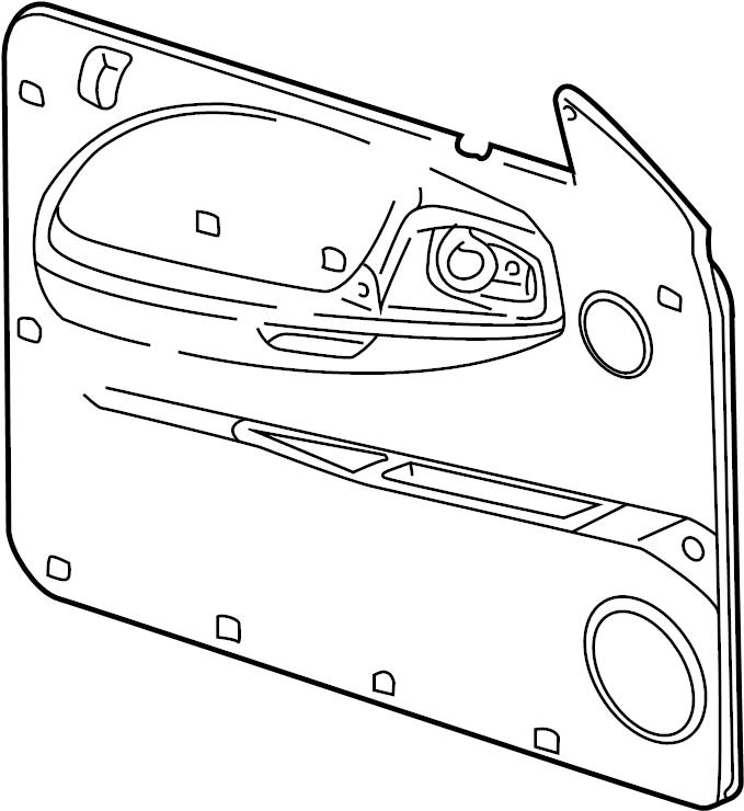Dodge Dakota Door Interior Trim Panel. Plastic, gray. Left