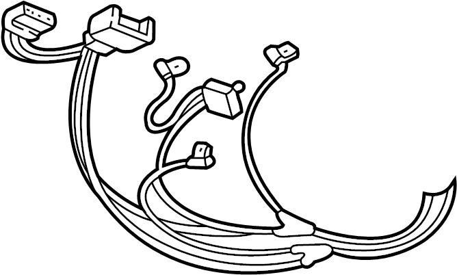 Dodge Dakota Console Wiring Harness. 1997-01, w/o map lamp