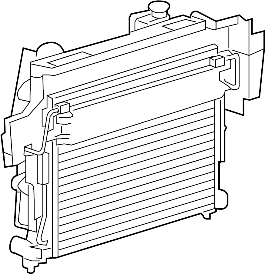 Jeep Commander Radiator. ENGINE COOLING. Radiator