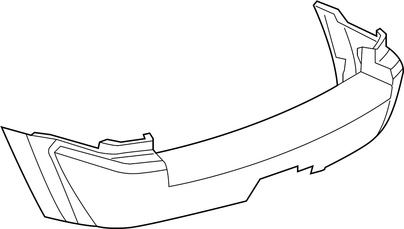 Jeep Grand Cherokee Bumper Cover (Rear, Upper, Lower