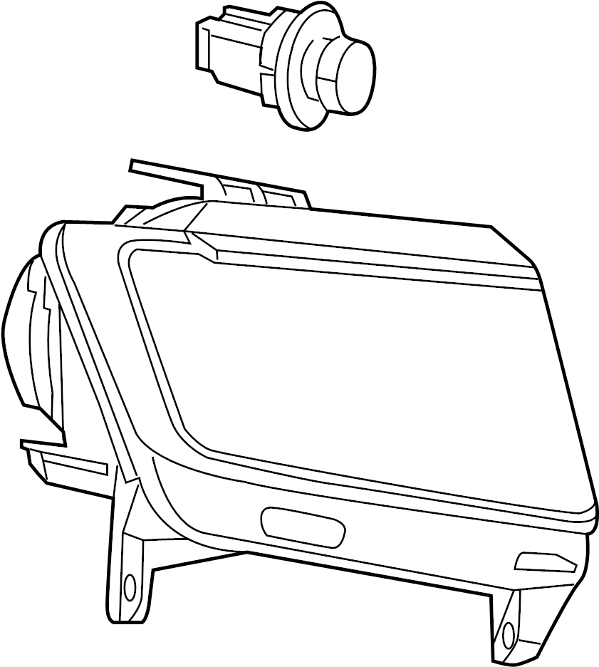 Jeep Grand Cherokee Headlight Assembly. Compass; Right