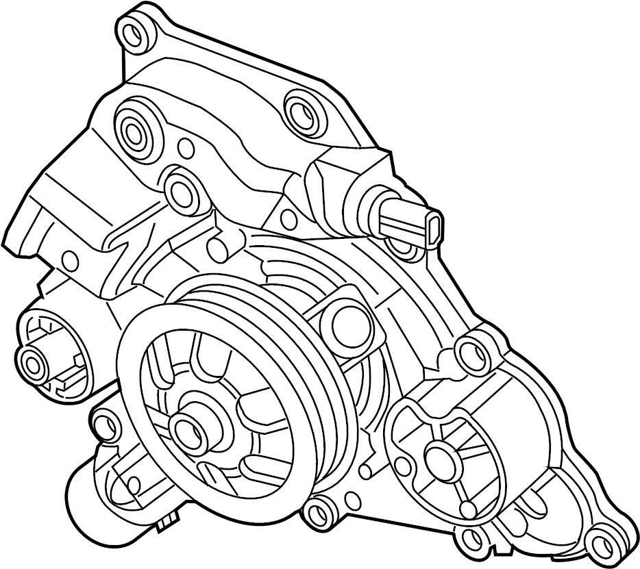 Chrysler 300 Engine Water Pump. LITER, COOLING, Cooler