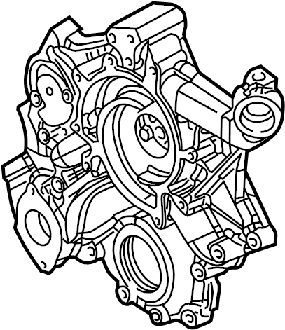 Jeep Grand Cherokee Engine Timing Cover (Front). 4.7 LITER